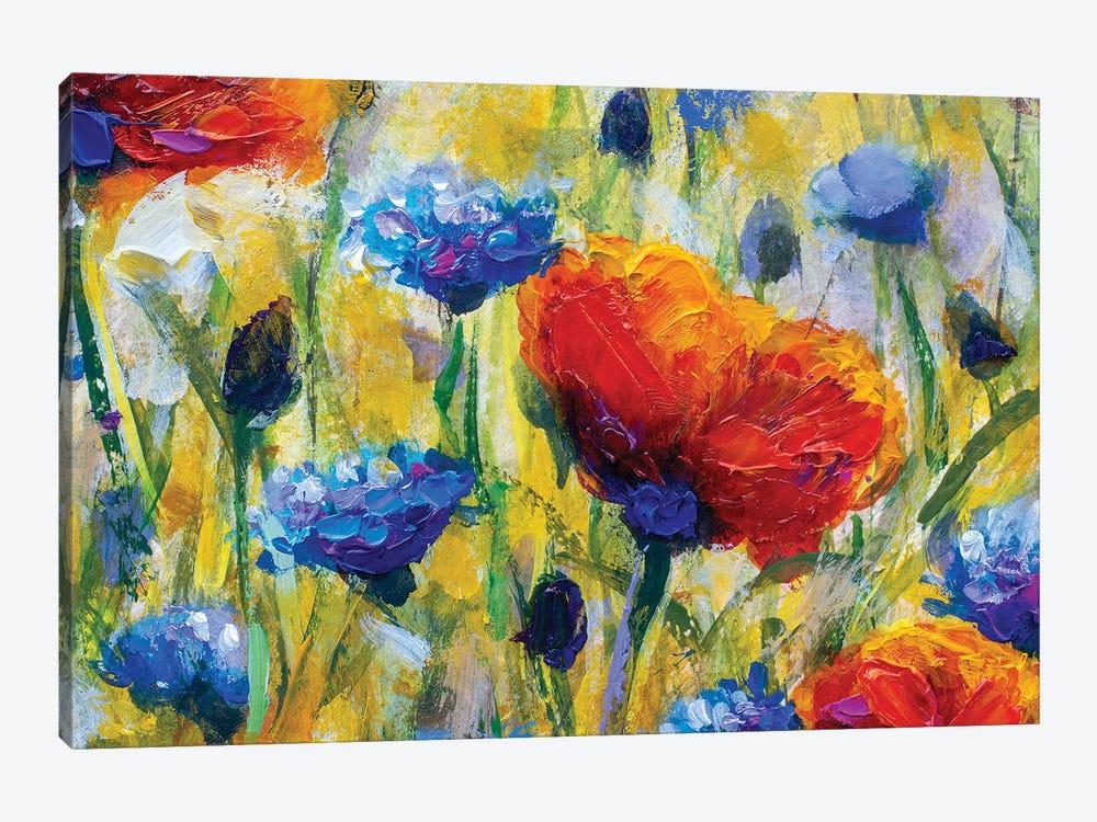 Summer Red Flower by Valery Rybakow 1-piece Canvas Artwork