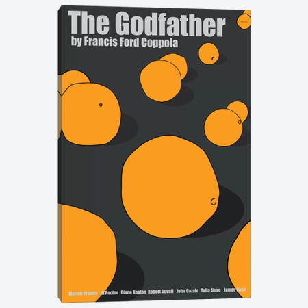 The Godfather -Alternate Canvas Print #VSI102} by Claudia Varosio Canvas Art