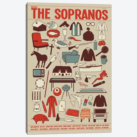 The Sopranos 3-Piece Canvas #VSI108} by Claudia Varosio Canvas Wall Art
