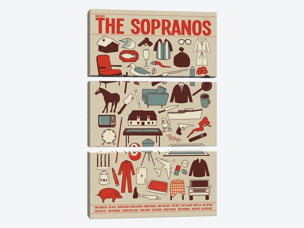 The Sopranos by Claudia Varosio 3-piece Canvas Wall Art