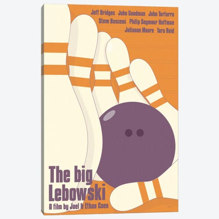 Big Lebowski Canvas Print #VSI10} by Claudia Varosio Canvas Art
