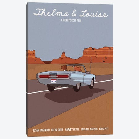 Thelma And Louise Canvas Print #VSI110} by Claudia Varosio Canvas Print