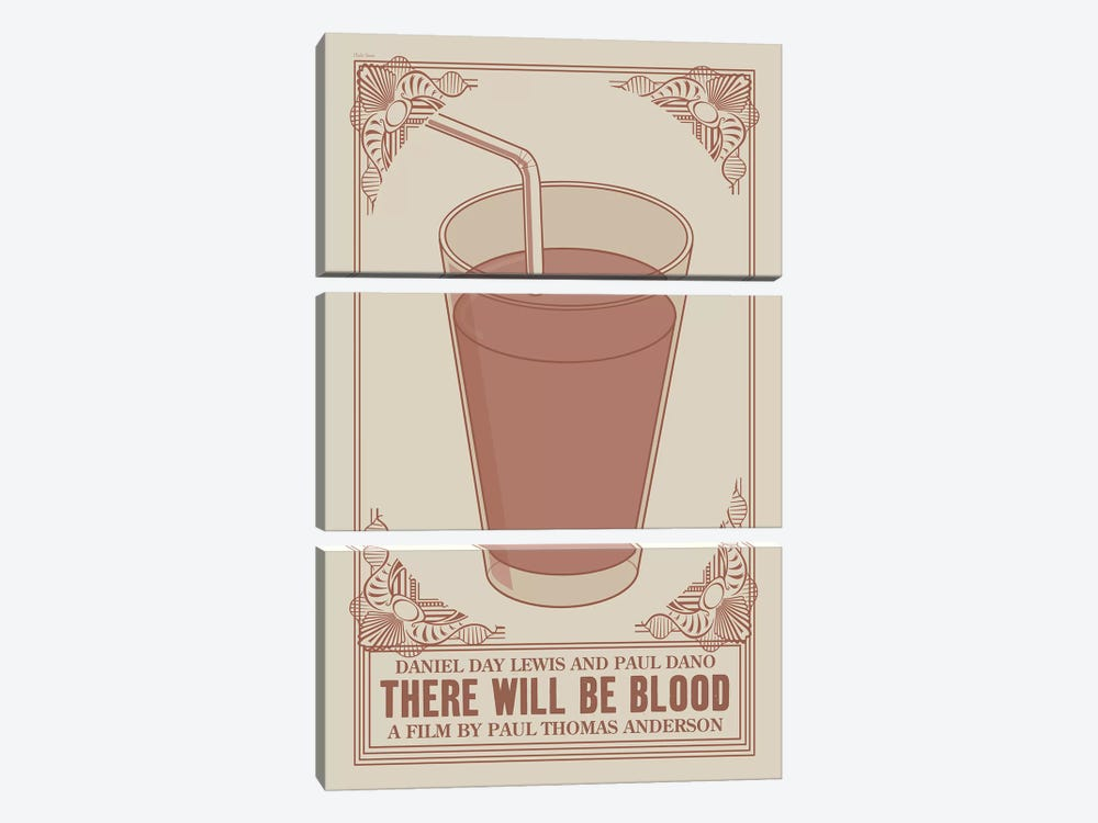 There Will Be Blood by Claudia Varosio 3-piece Canvas Wall Art