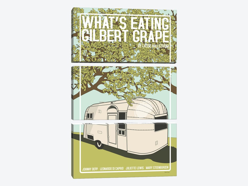 What's Eating Gilbert Grape by Claudia Varosio 3-piece Canvas Print