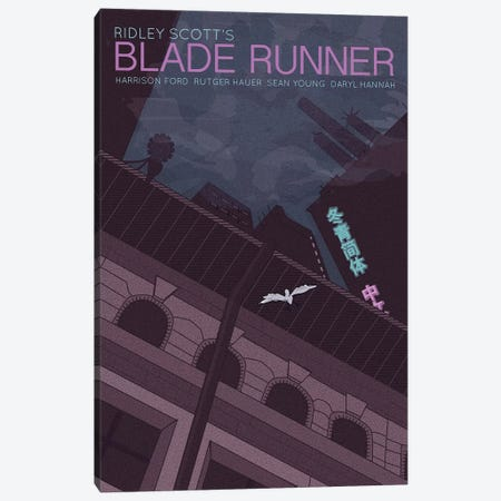 Blade Runner Canvas Print #VSI11} by Claudia Varosio Canvas Artwork