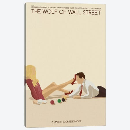 Wolf Of Wall Street Canvas Print #VSI121} by Claudia Varosio Canvas Art