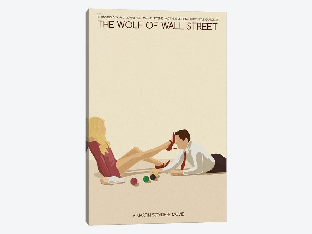 Wolf Of Wall Street by Claudia Varosio 1-piece Canvas Art Print
