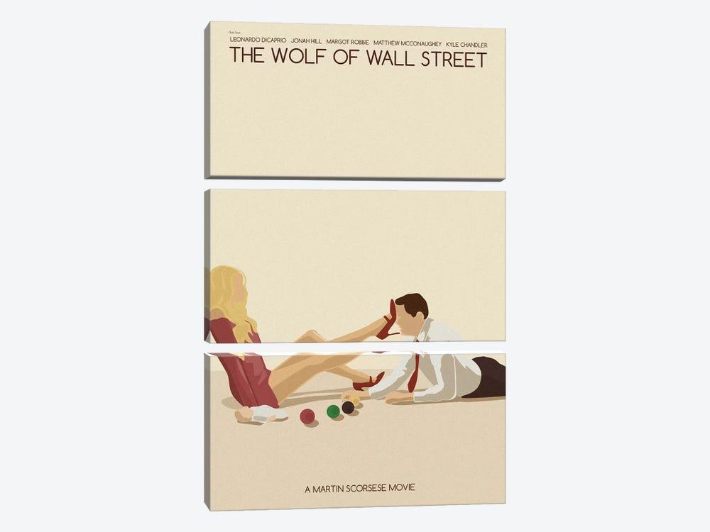 Wolf Of Wall Street by Claudia Varosio 3-piece Canvas Art Print