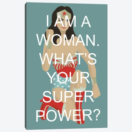 Wonder Woman Canvas Print #VSI122} by Claudia Varosio Canvas Wall Art
