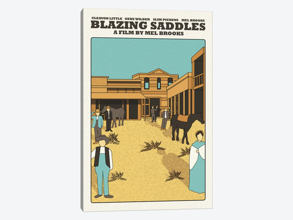 Blazing Saddles by Claudia Varosio 1-piece Canvas Art
