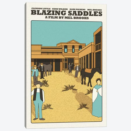 Blazing Saddles 3-Piece Canvas #VSI12} by Claudia Varosio Canvas Art