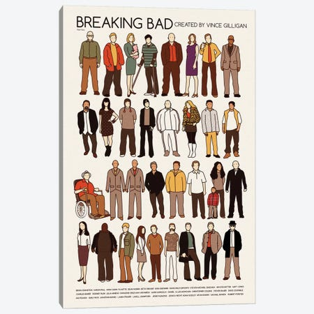 Breaking Bad Canvas Print #VSI18} by Claudia Varosio Canvas Art