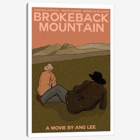 Brokeback Mountain Canvas Print #VSI19} by Claudia Varosio Canvas Art