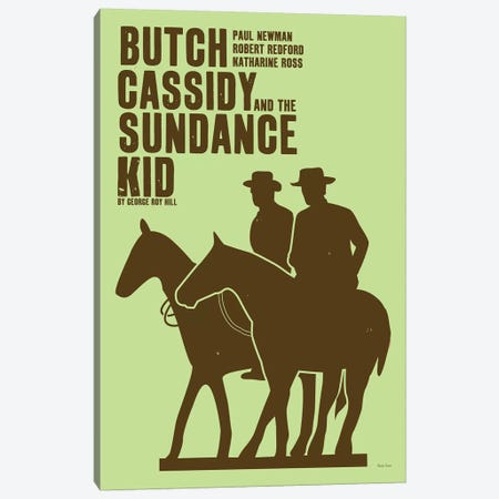 Butch Cassidy Canvas Print #VSI20} by Claudia Varosio Art Print