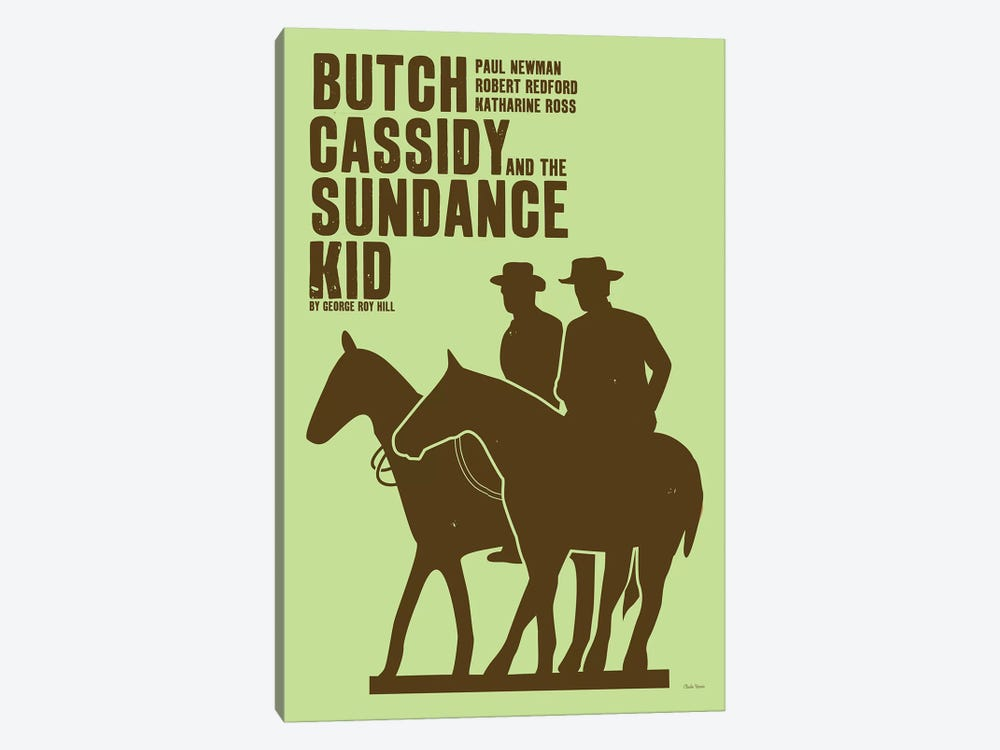 Butch Cassidy by Claudia Varosio 1-piece Art Print