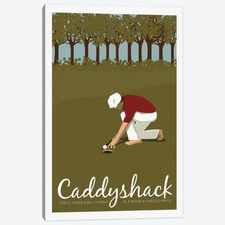 Caddyshack Canvas Print #VSI21} by Claudia Varosio Canvas Art Print