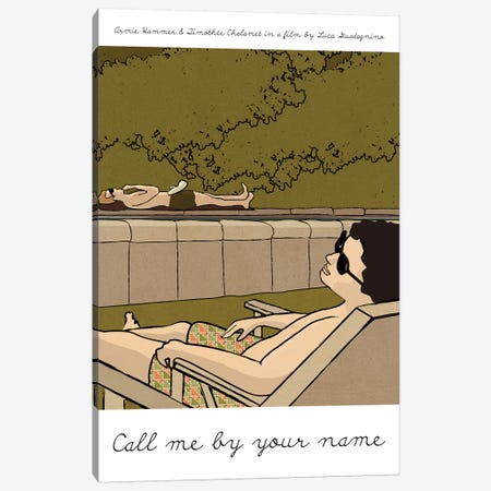 Call Me By Your Name Canvas Print #VSI22} by Claudia Varosio Canvas Print