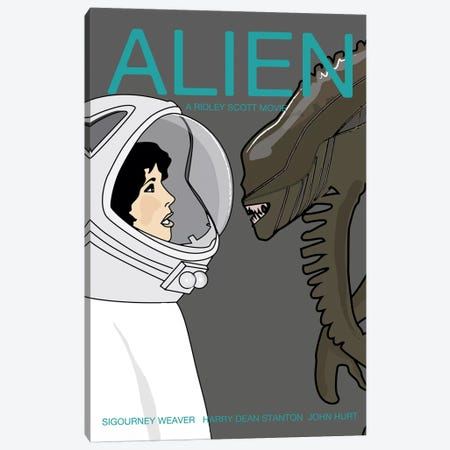 Alien Canvas Print #VSI3} by Claudia Varosio Canvas Artwork