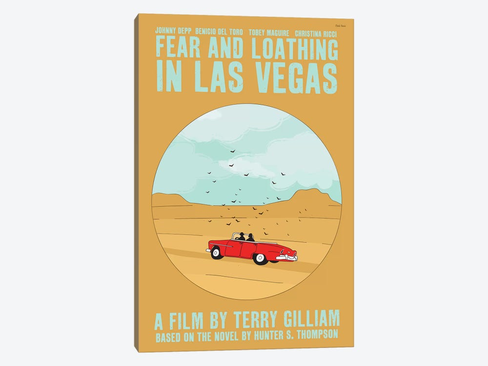 Fear And Loathing In Las Vegas by Claudia Varosio 1-piece Canvas Print