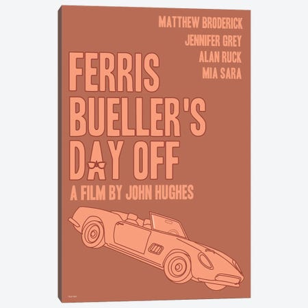 Ferris Bueller's Day Off Canvas Print #VSI41} by Claudia Varosio Art Print