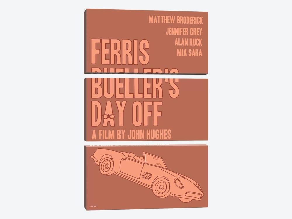Ferris Bueller's Day Off by Claudia Varosio 3-piece Canvas Art