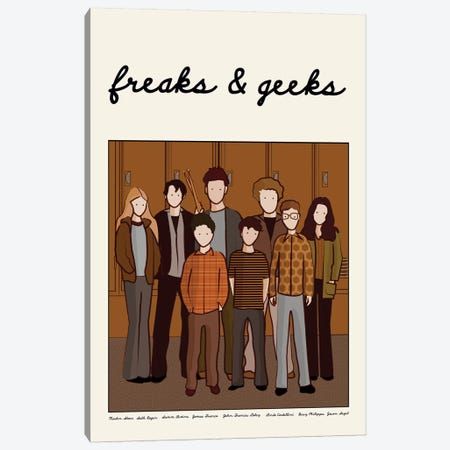 Freaks And Geeks Canvas Print #VSI42} by Claudia Varosio Canvas Print