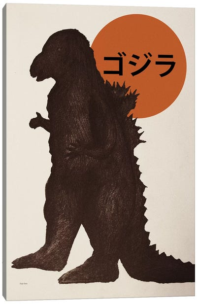 Godzilla Canvas Art Print