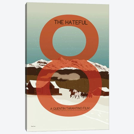 Hateful Eight Canvas Print #VSI49} by Claudia Varosio Canvas Print