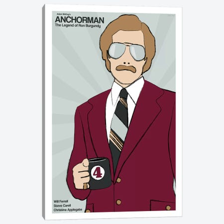 Anchorman Canvas Print #VSI5} by Claudia Varosio Art Print