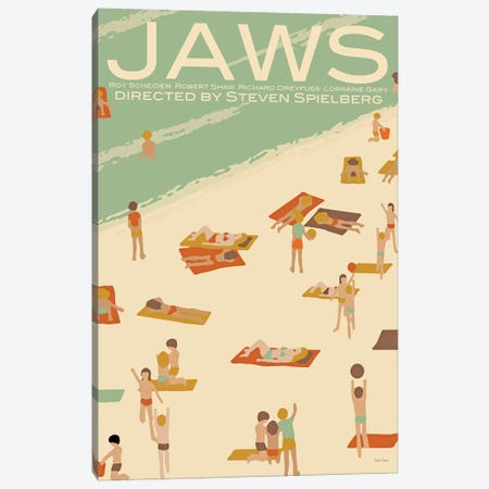 Jaws Canvas Print #VSI60} by Claudia Varosio Canvas Art Print