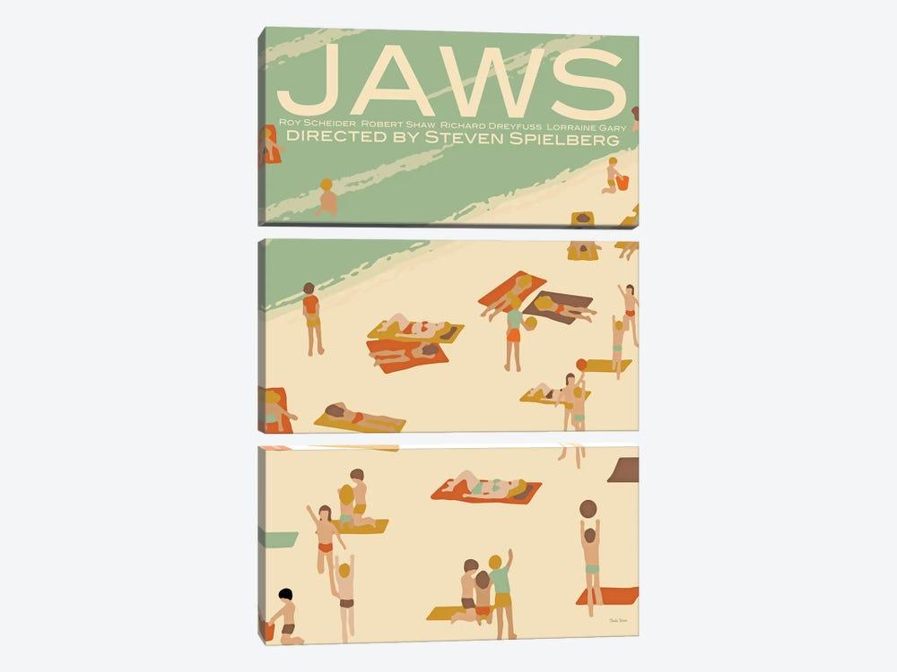 Jaws by Claudia Varosio 3-piece Canvas Art Print