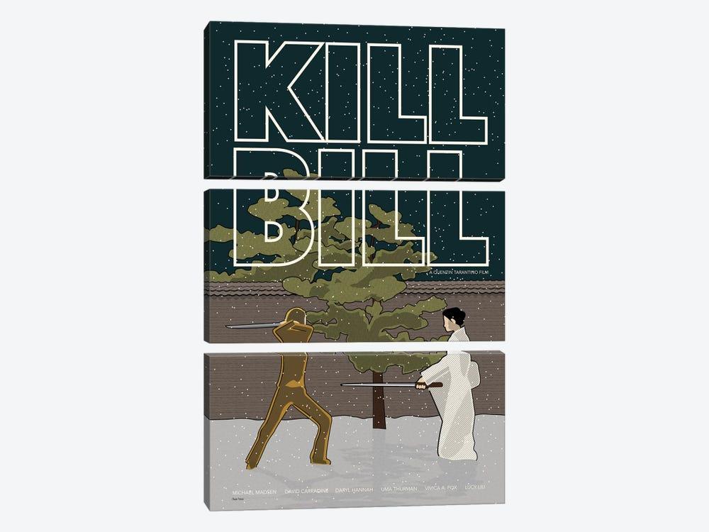 Kill Bill by Claudia Varosio 3-piece Canvas Art Print