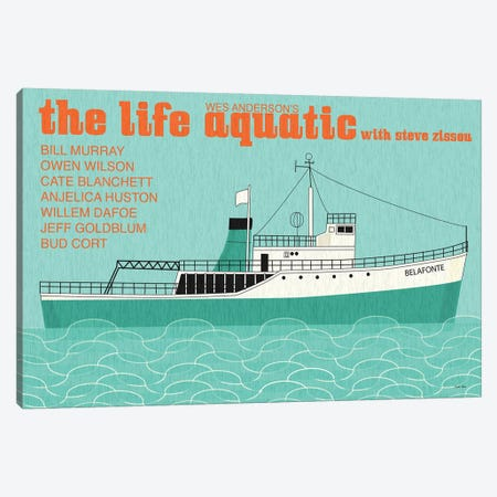 Life Aquatic Canvas Print #VSI64} by Claudia Varosio Canvas Wall Art