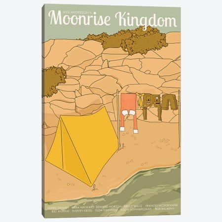 Moonrise Kingdom Canvas Print #VSI72} by Claudia Varosio Canvas Artwork