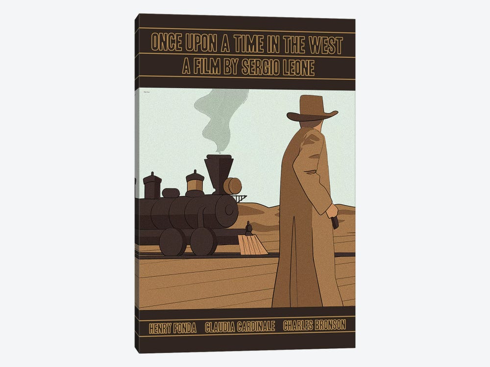 Once Upon A Time In The West by Claudia Varosio 1-piece Canvas Art Print