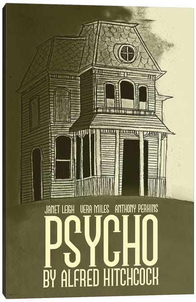 Psycho Canvas Art Print