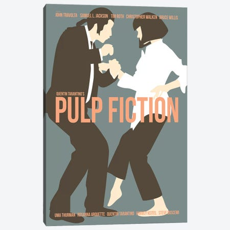 Pulp Fiction - Blue Canvas Print #VSI82} by Claudia Varosio Canvas Art Print
