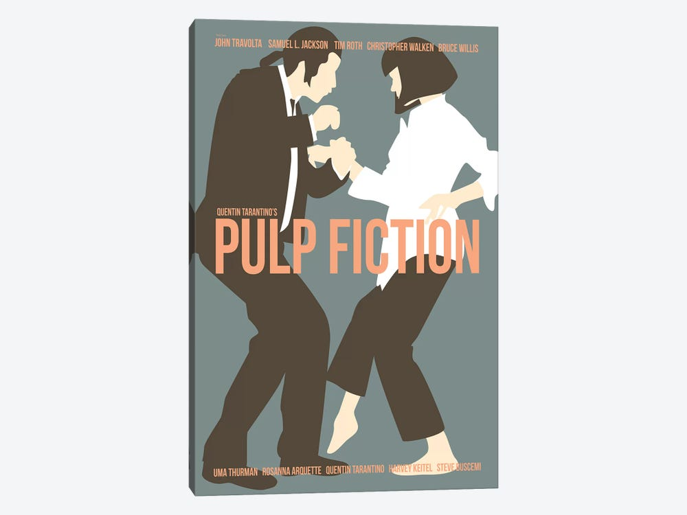 Pulp Fiction - Blue by Claudia Varosio 1-piece Canvas Art Print