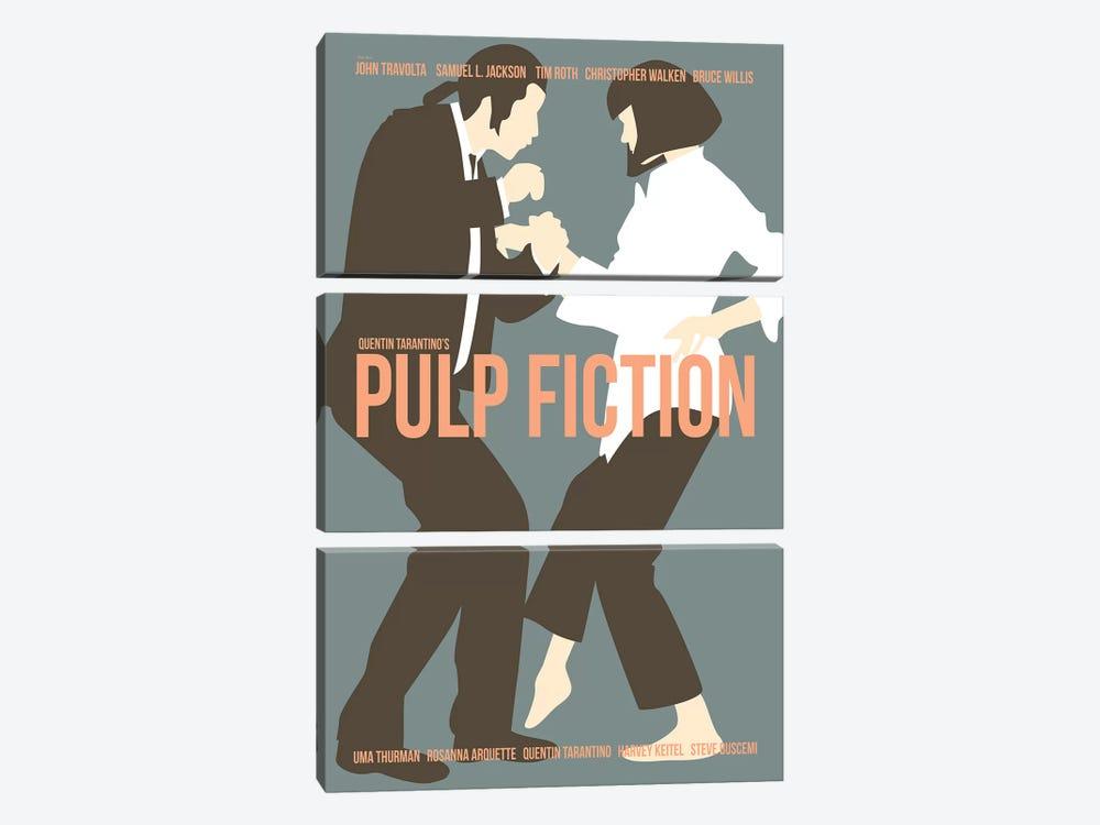 Pulp Fiction - Blue by Claudia Varosio 3-piece Art Print