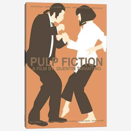 Pulp Fiction -Red Canvas Print #VSI83} by Claudia Varosio Art Print