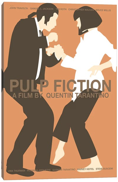 Pulp Fiction -Red Canvas Art Print