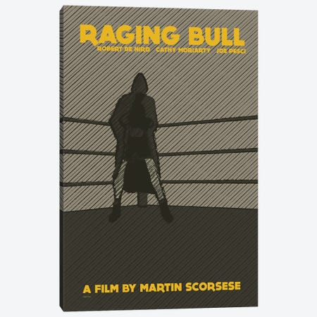 Raging Bull Canvas Print #VSI84} by Claudia Varosio Canvas Wall Art
