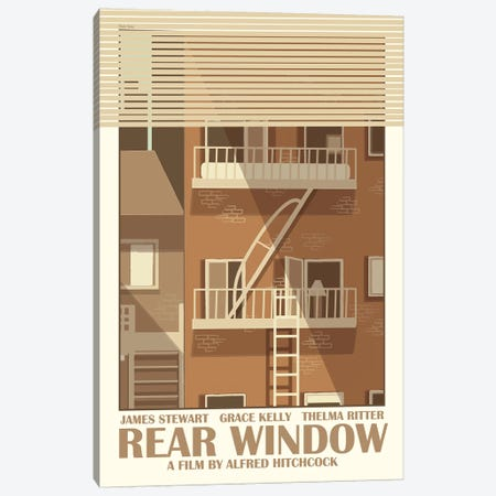 Rear Window Canvas Print #VSI85} by Claudia Varosio Canvas Wall Art