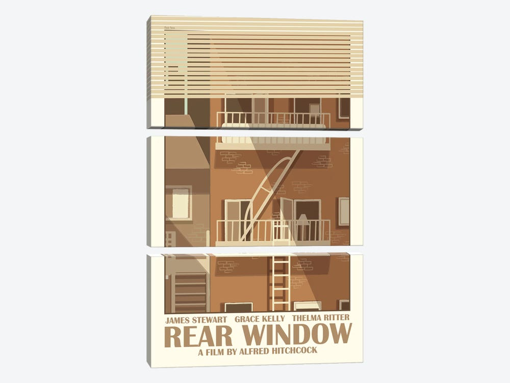 Rear Window by Claudia Varosio 3-piece Canvas Art