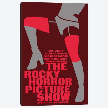 Rocky Horror Picture Show Canvas Print #VSI87} by Claudia Varosio Canvas Wall Art