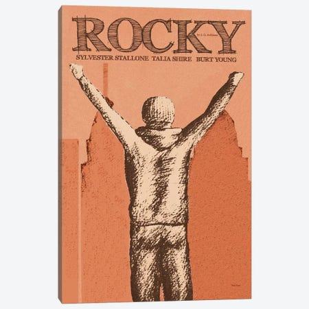 Rocky Red Canvas Print #VSI88} by Claudia Varosio Art Print
