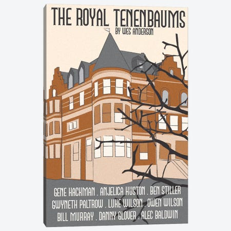 Royal Tenenbaums Canvas Print #VSI90} by Claudia Varosio Canvas Artwork