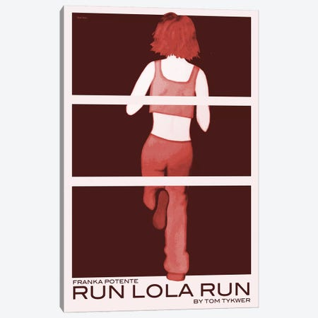 Run Lola Run Canvas Print #VSI91} by Claudia Varosio Canvas Art