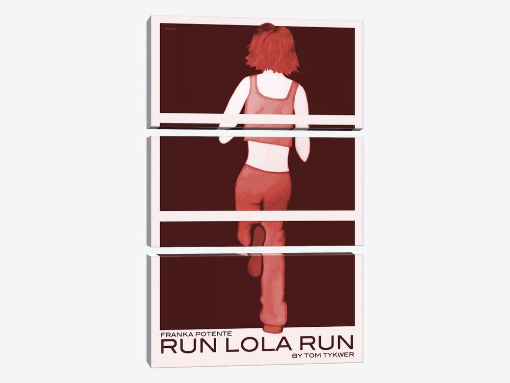 Run Lola Run by Claudia Varosio 3-piece Art Print