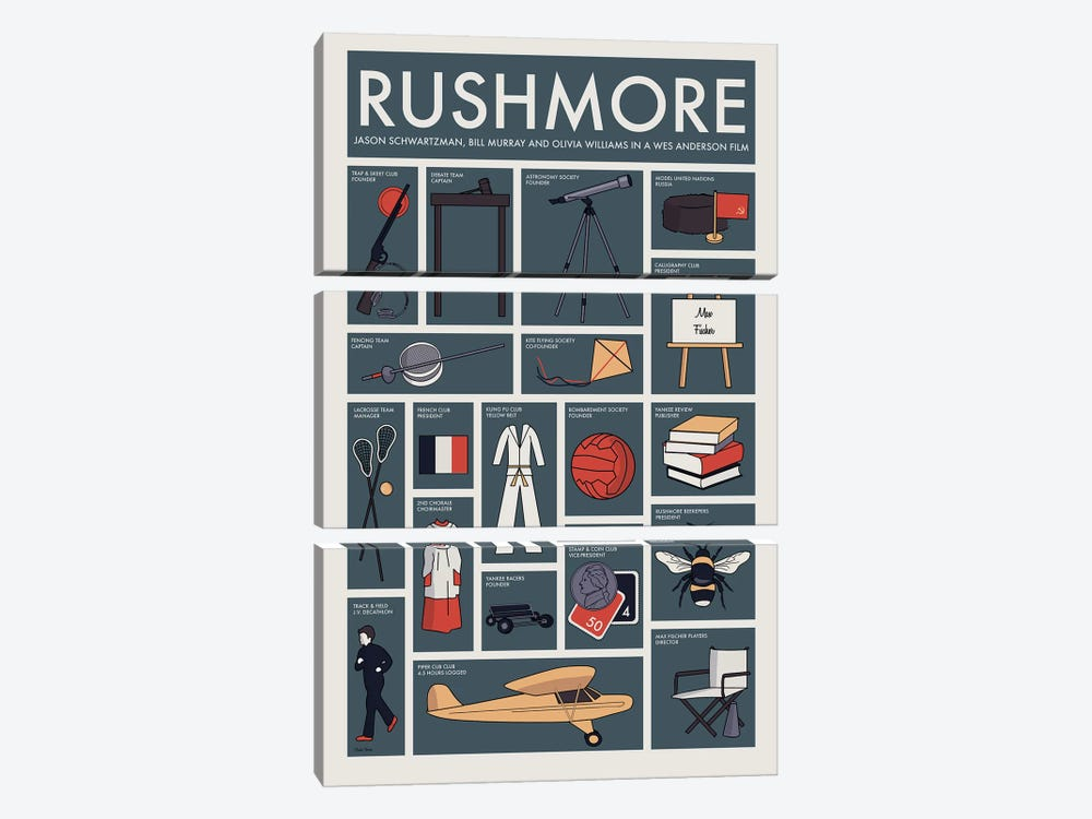 Rushmore by Claudia Varosio 3-piece Canvas Wall Art